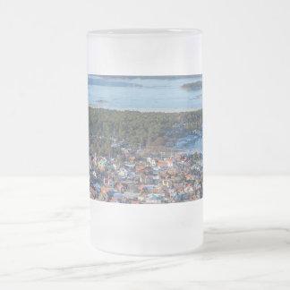 Sandhamn, Stockholm archipelago, Sweden Frosted Glass Beer Mug