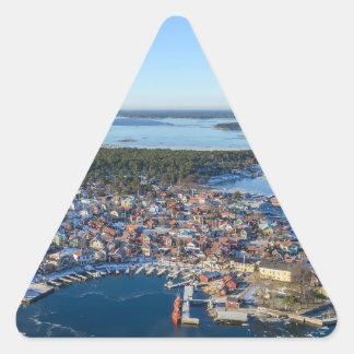 Sandhamn, Stockholm archipelago, Sweden Triangle Sticker