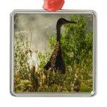 Sandhill Crane at Moose Ponds in Grand Teton Metal Ornament