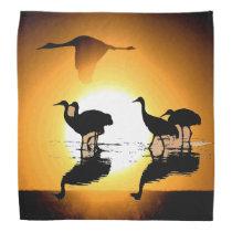 Sandhill Crane Bird Sun Wildlife Animals Bandana