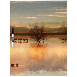 Sandhill Crane Bird Wildlife Animal Message Board Dry-Erase Whiteboards