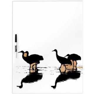 Sandhill Crane Bird Wildlife Animal Message Board Dry Erase White Board