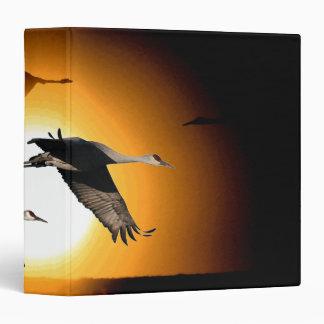 Sandhill Crane Birds Animals Wildlife Sun 3 Ring Binder
