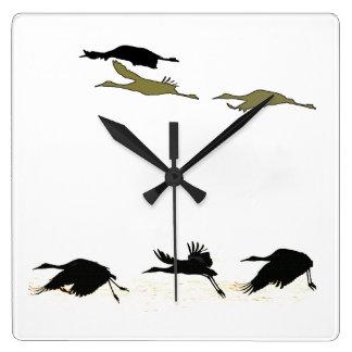Sandhill Crane Birds Wall Clock