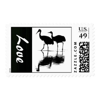 Sandhill Crane Birds Wildlife Animal Save the Date Postage