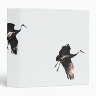 Sandhill Crane Birds Wildlife Animals 3 Ring Binder