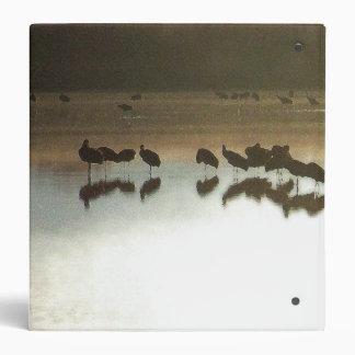 Sandhill Crane Birds Wildlife Animals Bosque 3 Ring Binder