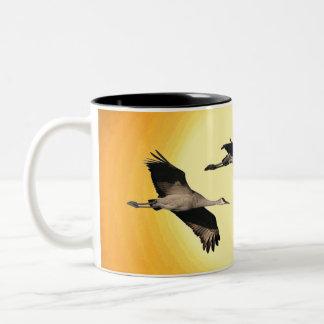 Sandhill Crane Birds Wildlife Animals Bosque Two-Tone Coffee Mug