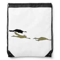 Sandhill Crane Birds Wildlife Animals Drawstring Bag
