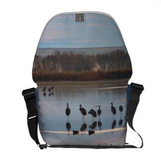 Sandhill Crane Birds Wildlife Animals Messenger Bag