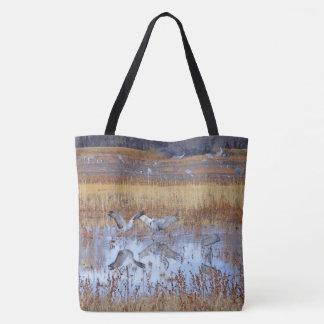 Sandhill Crane Birds Wildlife Animals Tote Bag