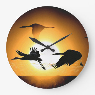 Sandhill Crane Birds Wildlife Animals Wall Clock