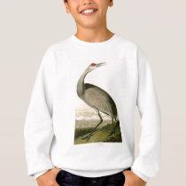 Sandhill Crane John James Audubon Birds of America Sweatshirt