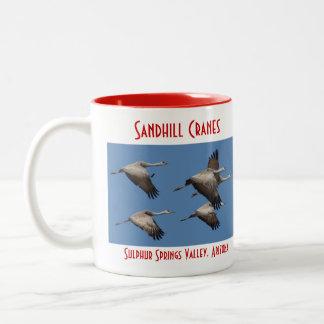 Sandhill Crane Mug, left-handled Two-Tone Coffee Mug