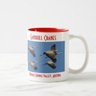 Sandhill Crane Mug, right-handled Two-Tone Coffee Mug
