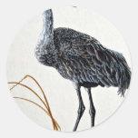 Sandhill crane round sticker