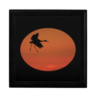 sandhill crane walking on air jewelry box