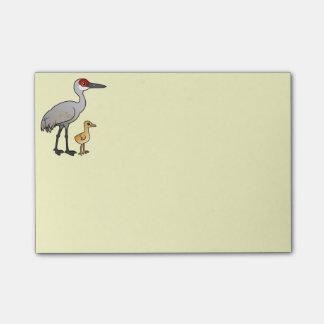 Sandhill Crane with Colt Post-it Notes