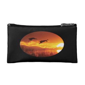 Sandhill Cranes and Sun Cosmetics Bags