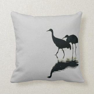 Sandhill Cranes Birds Animal Wildlife Pillow