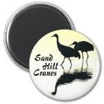 Sandhill Cranes el botón Imán Para Frigorifico