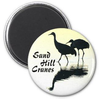 Sandhill Cranes el botón Imán Redondo 5 Cm