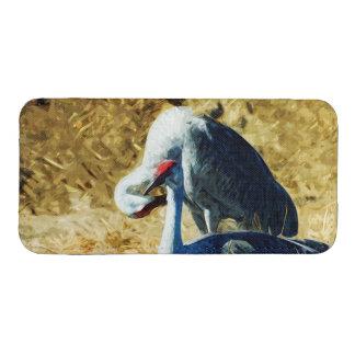 Sandhill Cranes impresionismo abstracto Bolsillo Para iPhone