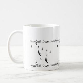 Sandhill Cranes in flight, Coffee Mug