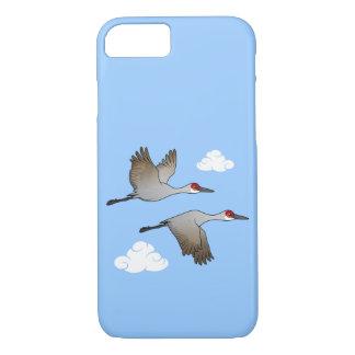 Sandhill Cranes in Flight iPhone 7 Case