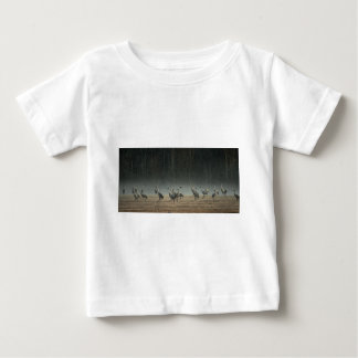 Sandhill Cranes in the Early Morning Spring Mist Baby T-Shirt