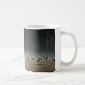 Sandhill Cranes in the Early Morning Spring Mist Coffee Mug