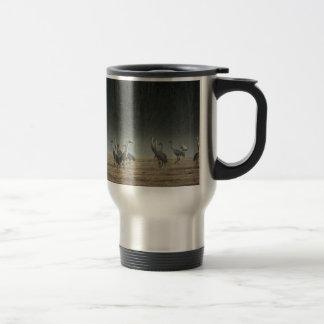 Sandhill Cranes in the Early Morning Spring Mist Travel Mug