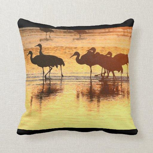 Sandhill Cranes la almohada de los animales de la