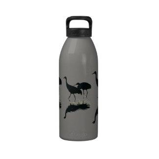 Sandhill Cranes la botella de consumición de la li Botallas De Agua
