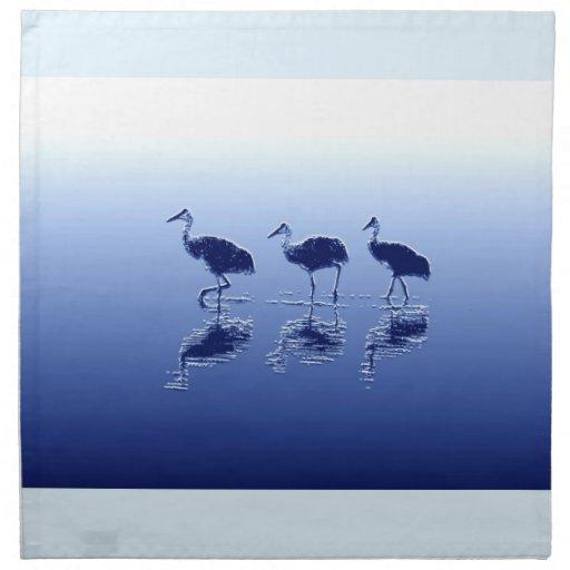 Sandhill Cranes la servilleta del arte