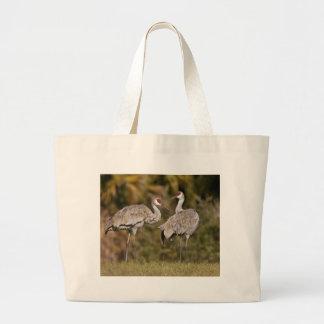 Sandhill Cranes Large Tote Bag