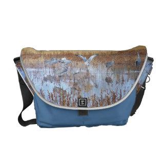 Sandhill Cranes Messenger Bag