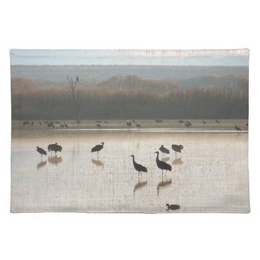 Sandhill Cranes Placemats Manteles