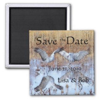 Sandhill Cranes Save the Date Magnet