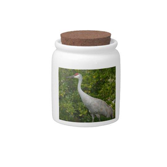 Sandhill Cranes (Single) Candy Jars