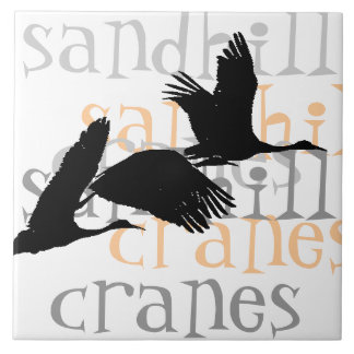 Sandhill Cranes Tile