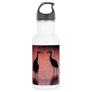 Sandhill cranes water bottle
