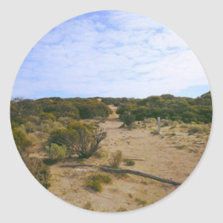 sandhill tracks classic round sticker