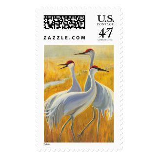 Sandhill Trio Postage Stamps