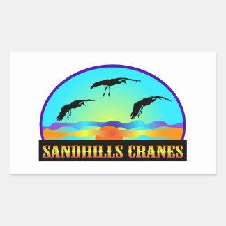Sandhills Cranes Rectangular Sticker