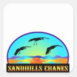 Sandhills Cranes Square Sticker