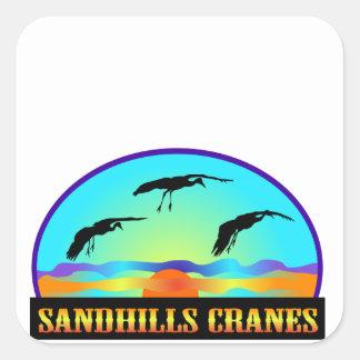 Sandhills Cranes Square Stickers