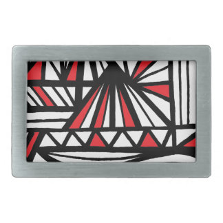 Sandholm Abstract Expression Red White Black Belt Buckle