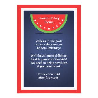 Sandía 4ta de la comida campestre de las invitacio comunicado personal