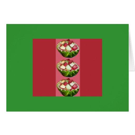 Sandía brillante de la ensalada de fruta tarjeta de felicitación